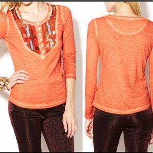 Free People Tiger Eyes Long Sleeve Size Small